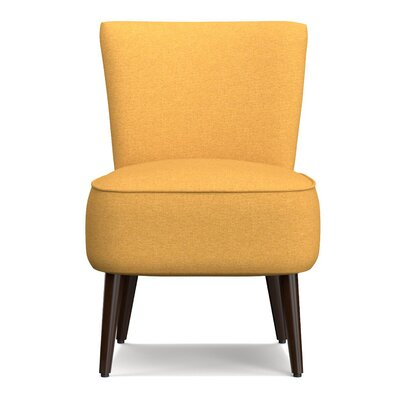 Cureton Blaylock Slipper Chair Upholstery: Mustard Yellow