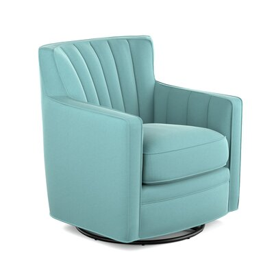 Bleadon Swivel Arm Chair Upholstery: Turquoise
