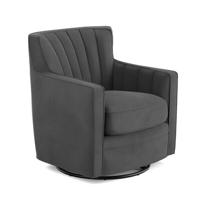 Doran Swivel Armchair Upholstery: Gray