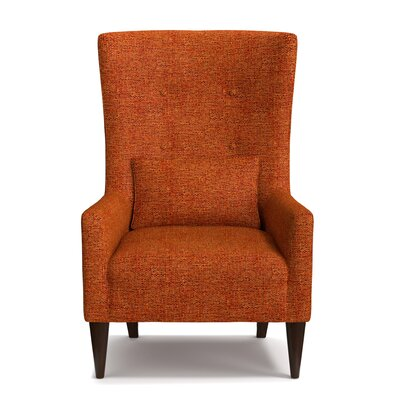 Copperfield Wingback Chair Upholstery: Orange/Brown