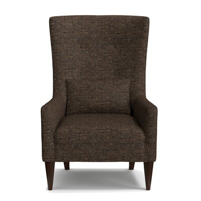 Bristol Shelter High Back Wingback Chair Upholstery: Brown/Gray/Black