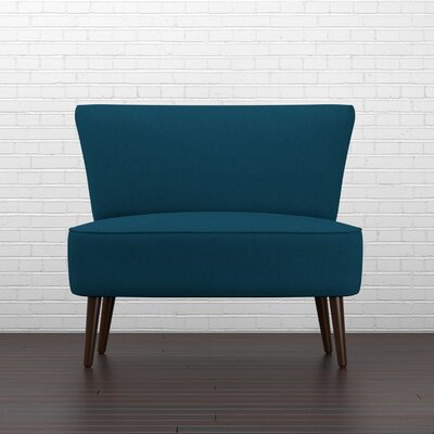 Cureton Slipper Chair Upholstery: Peacock Blue