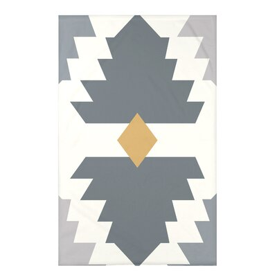Bowes Mesa Geometric Print Throw Blanket Size: 50 H x 60 W x 0.5 D, Color: Gray