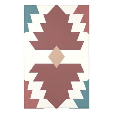 Bowes Mesa Geometric Print Throw Blanket Size: 50 H x 60 W x 0.5 D, Color: Orange