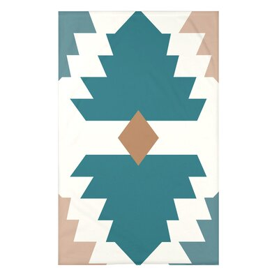 Bowes Mesa Geometric Print Throw Blanket Size: 50 H x 60 W x 0.5 D, Color: Aqua