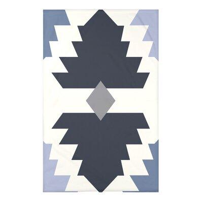 Bowes Mesa Geometric Print Throw Blanket Size: 50 H x 60 W x 0.5 D, Color: Navy Blue