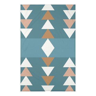 Bowie Sagebrush Geometric Print Throw Blanket Size: 50 H x 60 W x 0.5 D, Color: Aqua