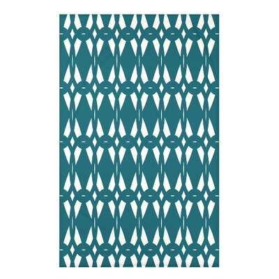 Bowker Geo-Craze Geometric Print Throw Blanket Size: 50 H x 60 W x 0.5 D, Color: Teal