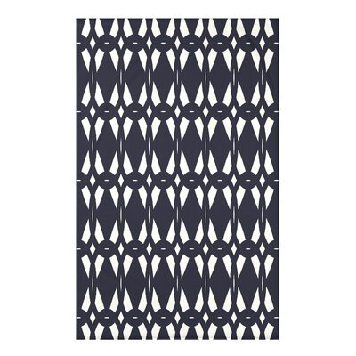Bowker Geo-Craze Geometric Print Throw Blanket Size: 50 H x 60 W x 0.5 D, Color: Navy Blue
