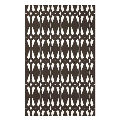 Bowker Geo-Craze Geometric Print Throw Blanket Size: 50 H x 60 W x 0.5 D, Color: Brown