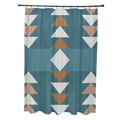 Collete Sagebrush Geometric Print Shower Curtain Color: Aqua