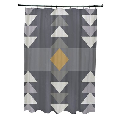 Collete Sagebrush Geometric Print Shower Curtain Color: Gray