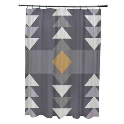Bowley Sagebrush Geometric Print Shower Curtain Color: Gray