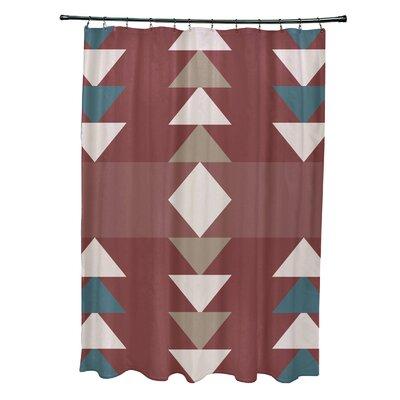 Bowley Sagebrush Geometric Print Shower Curtain Color: Orange