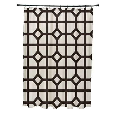 Ketchum Dont Fret Geometric Print Shower Curtain Color: Brown
