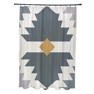 Mathews Mesa Geometric Print Shower Curtain Color: Gray