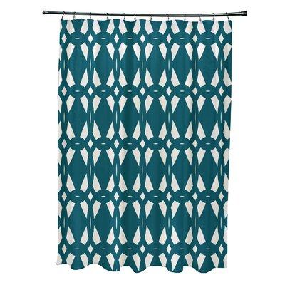 Auden Geo-Craze Geometric Print Shower Curtain Color: Teal