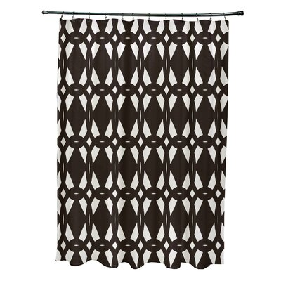 Boyden Geo-Craze Geometric Print Shower Curtain Color: Navy Blue