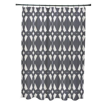 Auden Geo-Craze Geometric Print Shower Curtain Color: Gray