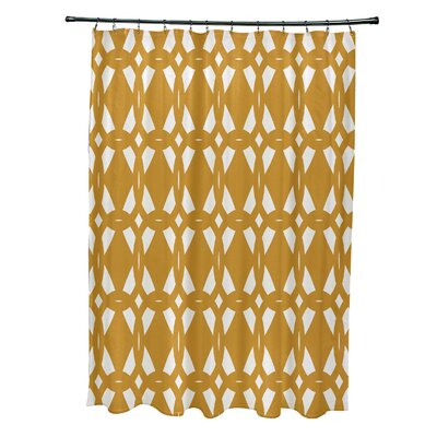 Auden Geo-Craze Geometric Print Shower Curtain Color: Yellow