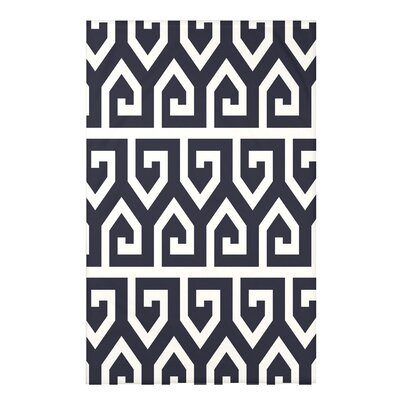 Boykin Keyed Up Geometric Print Throw Blanket Size: 50 H x 60 W x 0.5 D, Color: Navy Blue