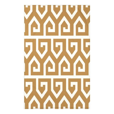 Boykin Keyed Up Geometric Print Throw Blanket Size: 50 H x 60 W x 0.5 D, Color: Gold