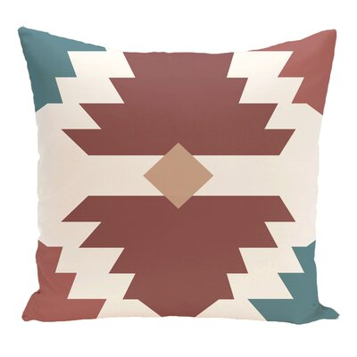 Avian Geometric Print Throw Pillow Size: 26 H x 26 W, Color: Orange