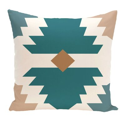 Avian Geometric Print Throw Pillow Size: 16 H x 16 W, Color: Aqua
