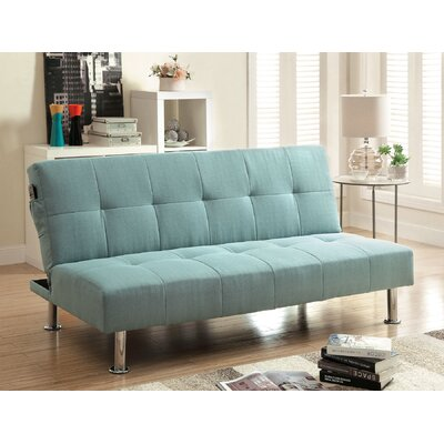 Boddie Convertible Sofa Upholstery: Blue