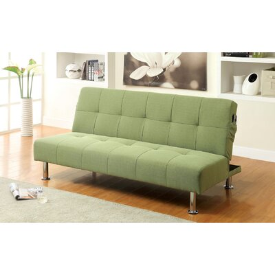 Boddie Convertible Sofa Upholstery: Green