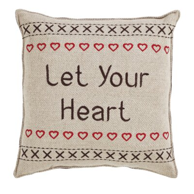Smithville Let Your Heart Cotton Throw Pillow