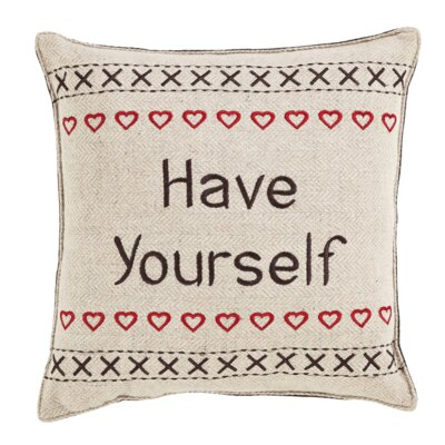 Smithville Have Yourself Cotton Throw Pillow