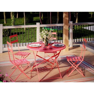 Blecha 5 Piece Dining Set Finish: Red