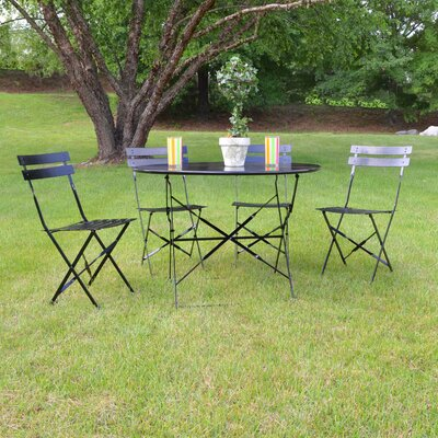Blecha 5 Piece Dining Set Finish: Black