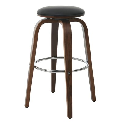 Tasia 30.75 Swivel Bar Stool Upholstery: Black