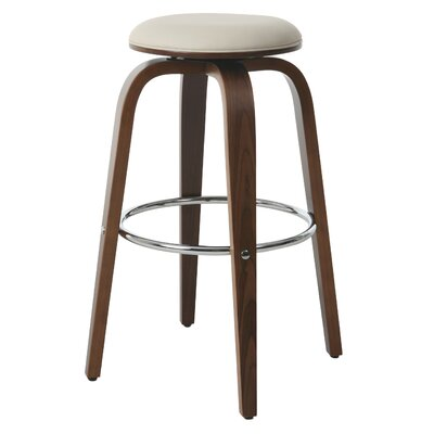 Tasia 26.75 Swivel Bar Stool Upholstery: Ivory