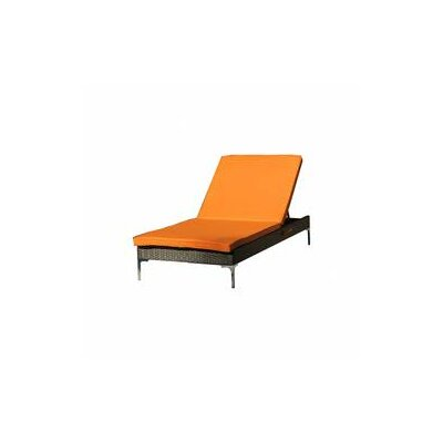 Ridinger Chaise Lounge with Cushion Color: Orange