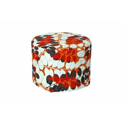Lorelai Ottoman Fabric: Red Floral