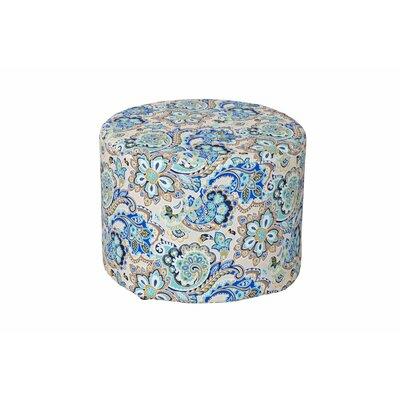 Lorelai Ottoman Fabric: Blue Floral