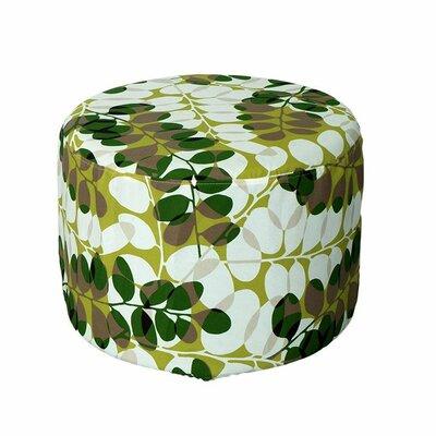 Lorelai Ottoman Fabric: Green Floral