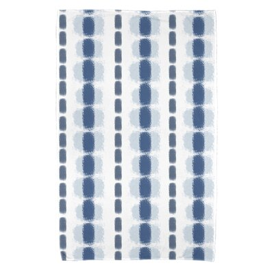 Leal Watercolor Stripe Bath Towel Color: Blue