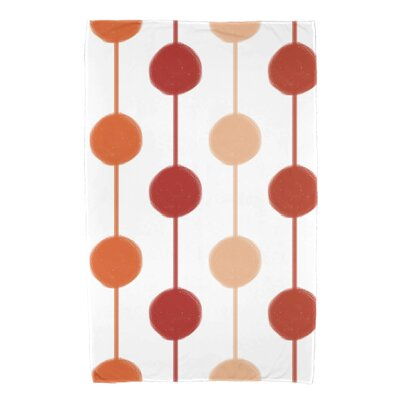Leal Brady Beads Bath Towel Color: Orange