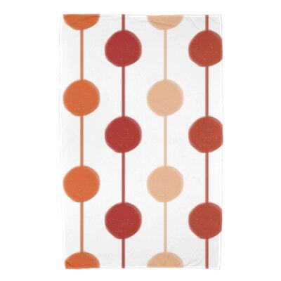 Leal Brady Beads Bath Towel Color: Orange