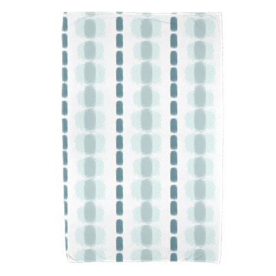Leal Watercolor Stripe Beach Towel Color: Teal