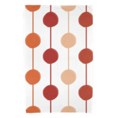 Leal Brady Beads Beach Towel Color: Orange