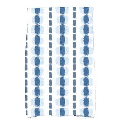 Leal Watercolor Stripe Hand Towel Color: Blue