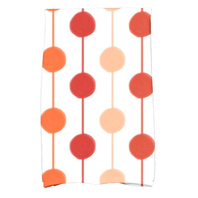 Leal Brady Beads Hand Towel Color: Orange