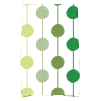 Leal Brady Beads Hand Towel Color: Green