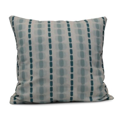 Leal Watercolor Stripe Indoor/Outdoor Throw Pillow Color: Teal, Size: 20 H x 20 W