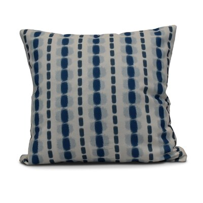 Leal Watercolor Stripe Indoor/Outdoor Throw Pillow Size: 20 H x 20 W, Color: Blue